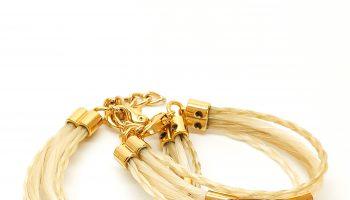 Pulseira 4 Fios Dourada – Crina Acessórios