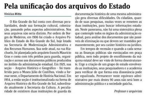 Jornal do Comércio - Opinião - 2016