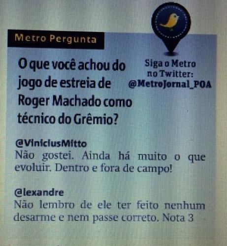 Metro Jornal - Opinião - 2015